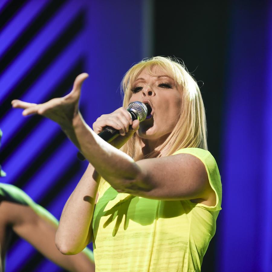 Yuri en los ensayos de Premios Tu Mundo 2015
