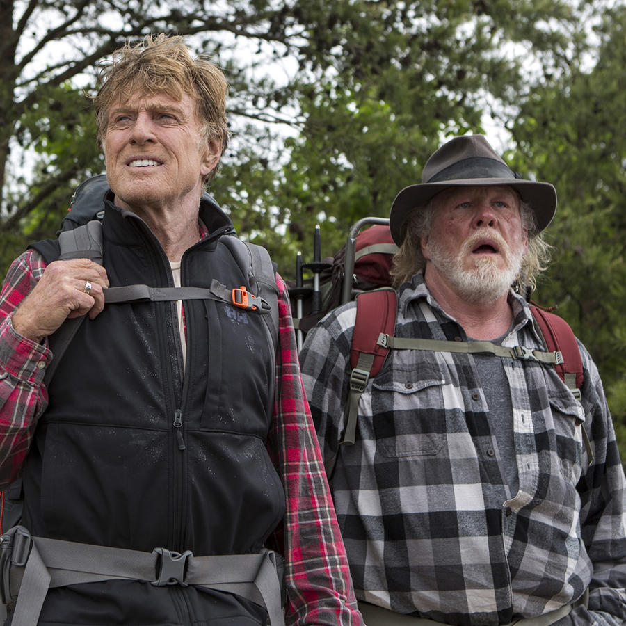 "Robert Redford y Nick Nolte en una escena de la película ""A Walk in the Woods"""