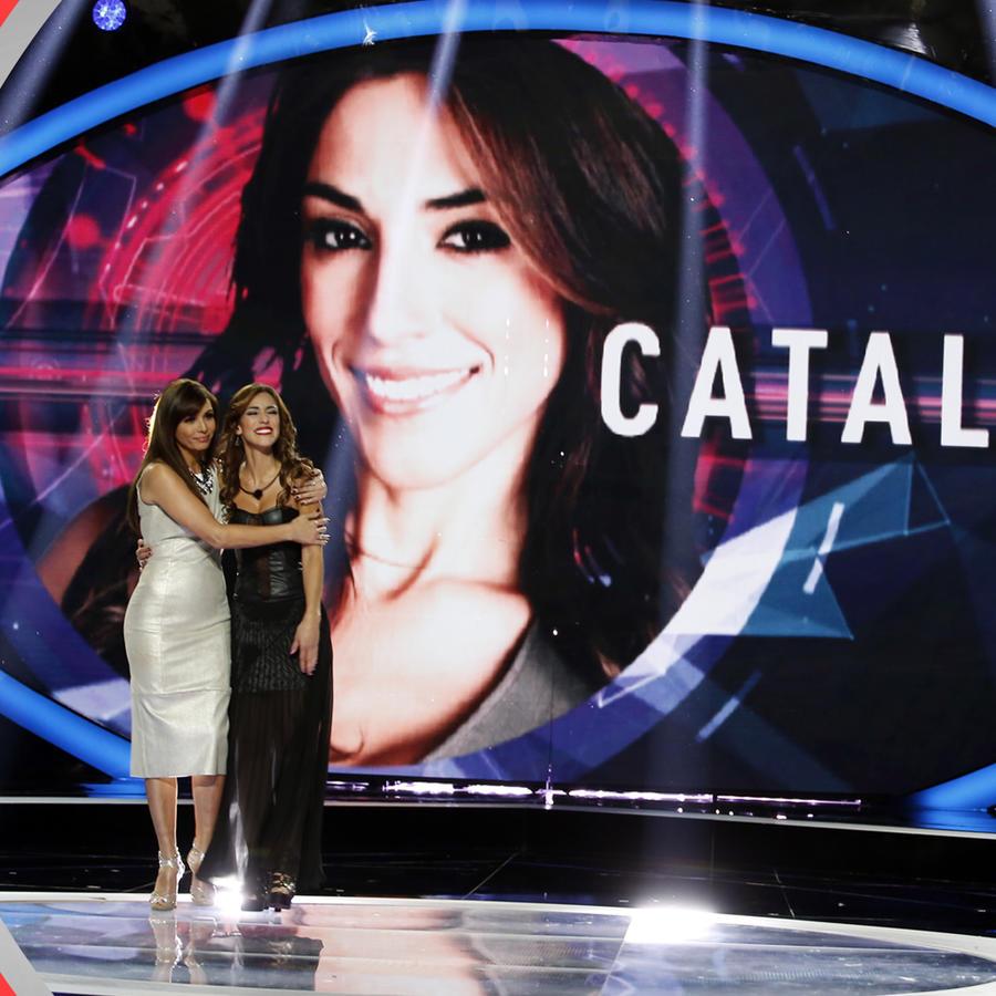 Catalia y Giselle Blondet en el escenario de Gran Hermano