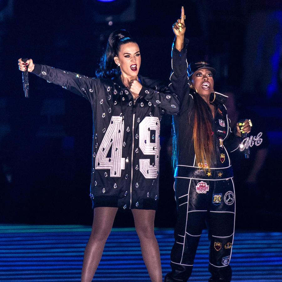 Katy Perry y Missy Elliot en el Super Bowl 2015