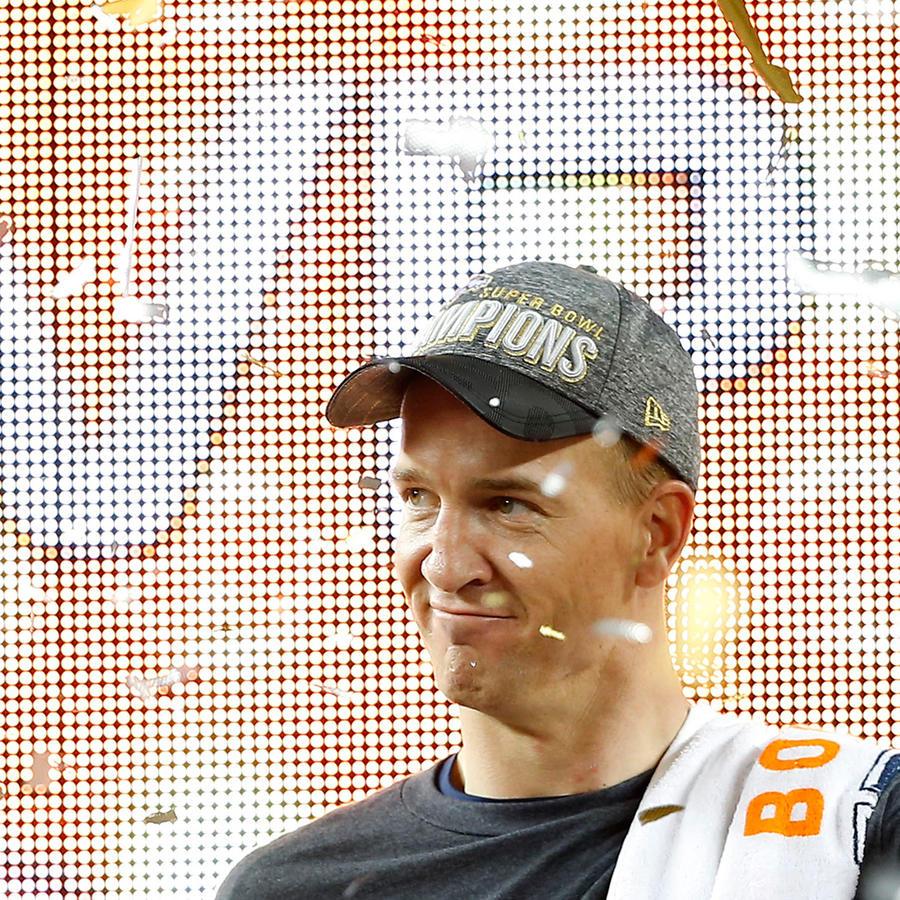 Peyton Manning de los Broncos de Denver celebran su triunfo en el Super Bowl 50 en Santa Clara, California el Domingo 7 de Febrero del 2016