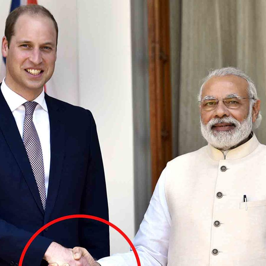 Príncipe William, Kate Middleton y Narendra Modi en India