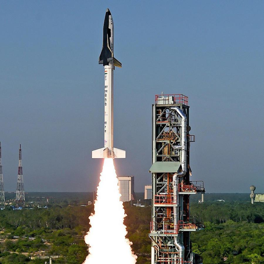 India probó con éxito su primer transbordador espacial de pequeño tamaño