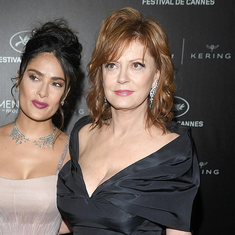 Salma Hayek compara su pechonalidad con la de la actriz Susan Sarandon