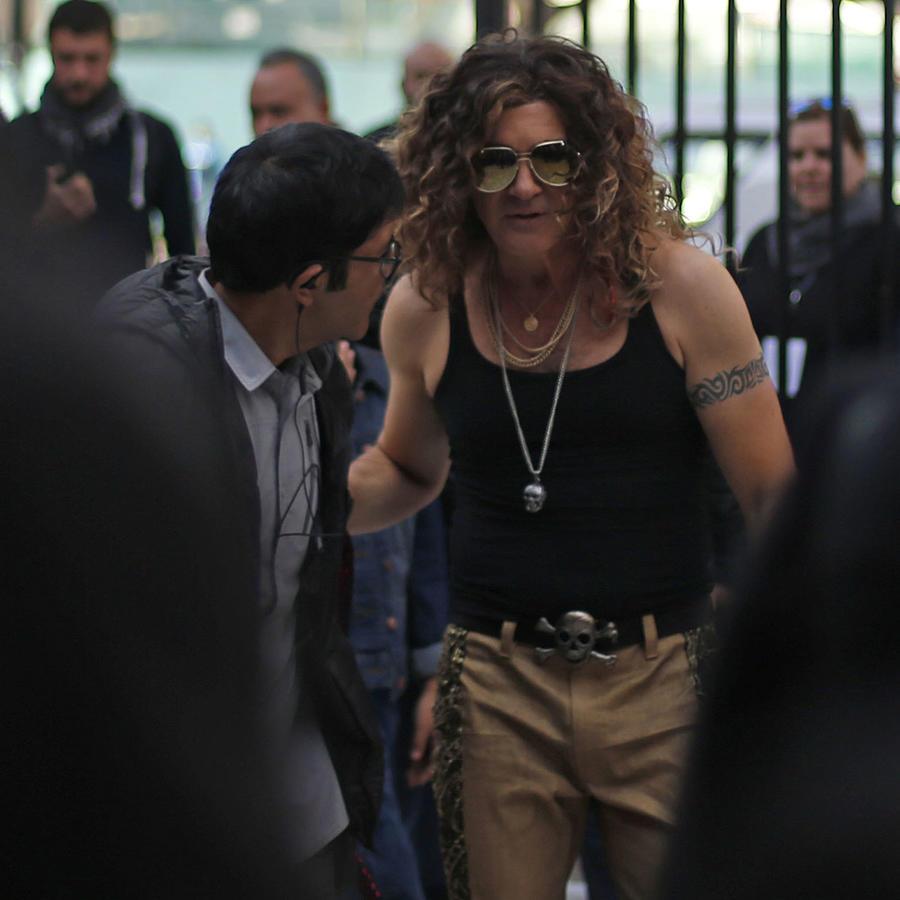 Antonio Banderas irreconocible en el set de su nueva cinta
