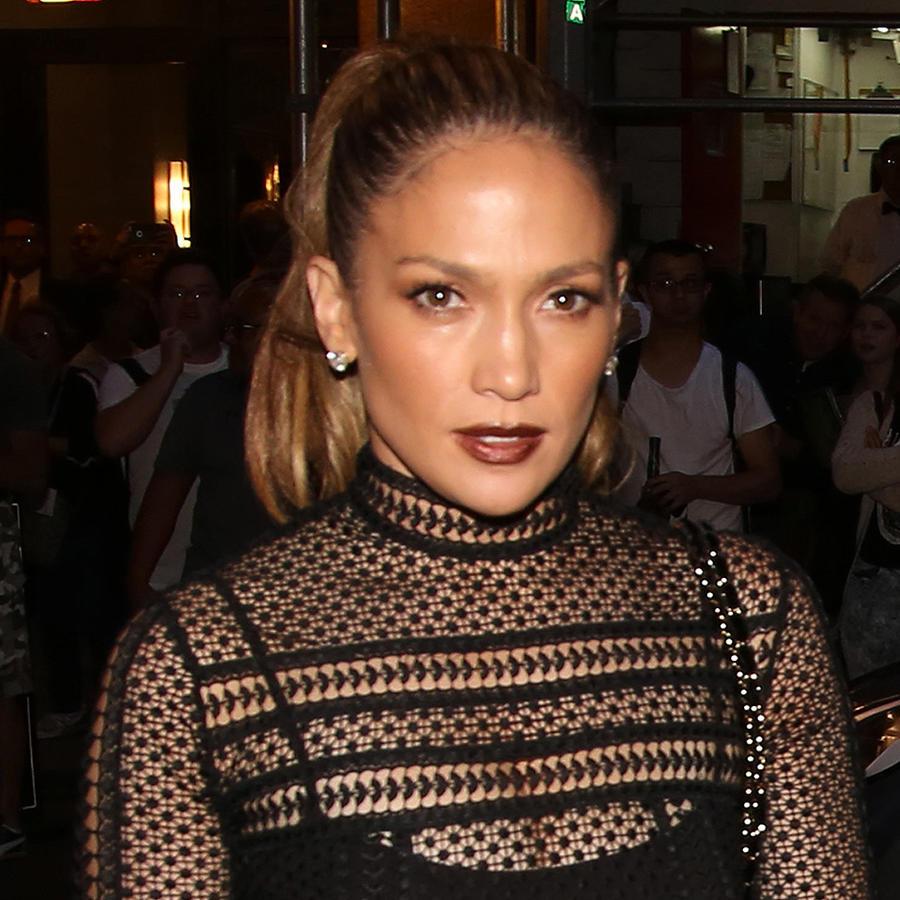 """Jennifer Lopez a su llegada a la última presentación de Lin-Manuel Miranda en """"Hamilton"""""""