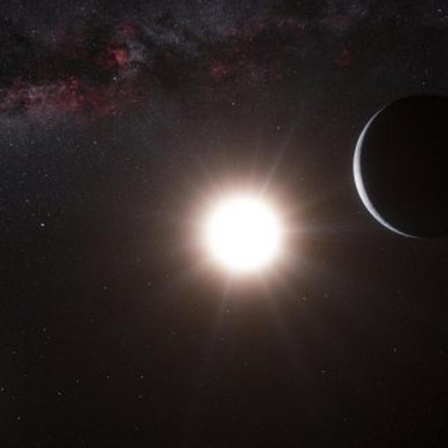 Impresión artística de un exoplaneta similar a La Tierra