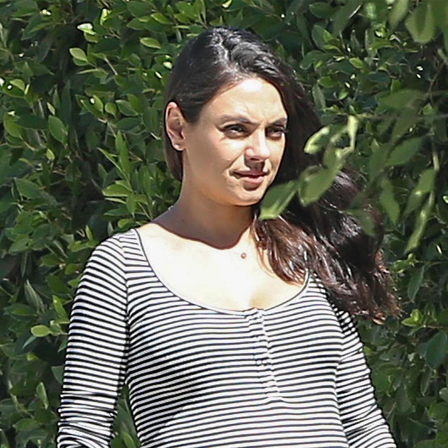 Mila Kunis está casi lista para dar a luz a su segundo hijo.