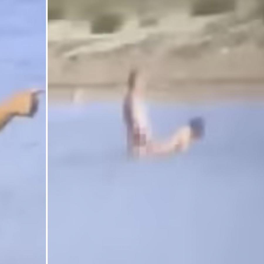 Un grupo de turistas observa a una pareja teniendo sexo en el mar (VIDEO)