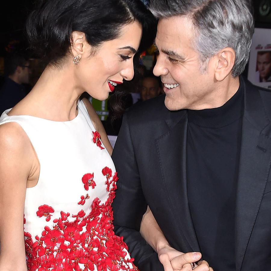 George Clooney y Amal Alamuddin en la alfombra roja del estreno de 'Hail, Caesar!'