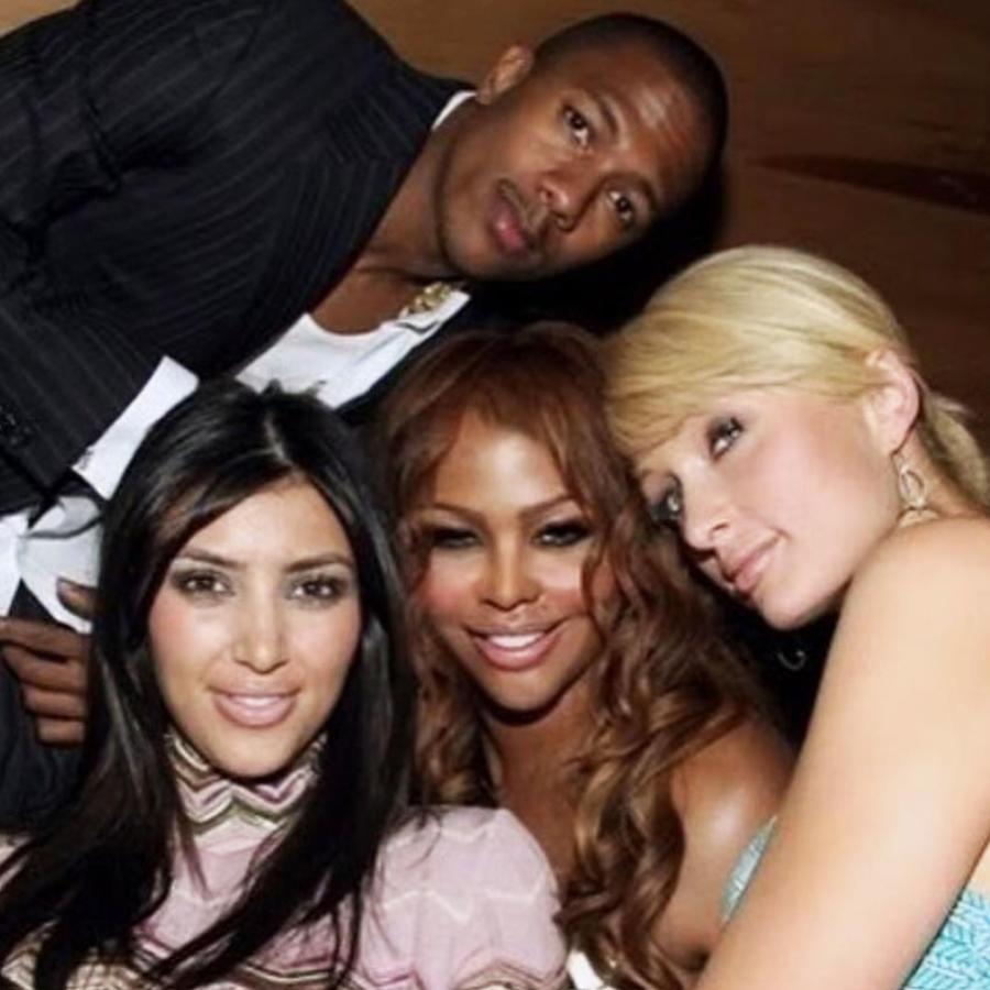 Nick Cannon con Kim Kardashian, Lil' Kim y Paris Hilton