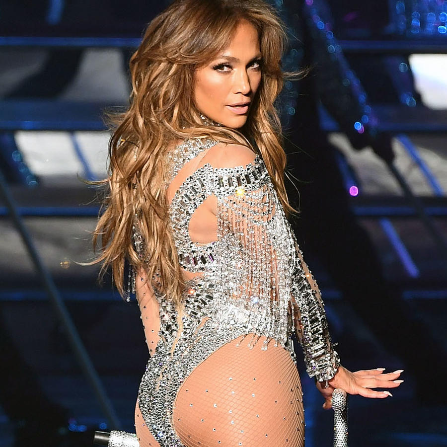 Beyonce y JLo durante sus respectivos shows