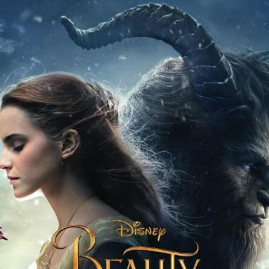 """""""Beauty and the Beast"""" poster oficial, con LeFou en un costado"""