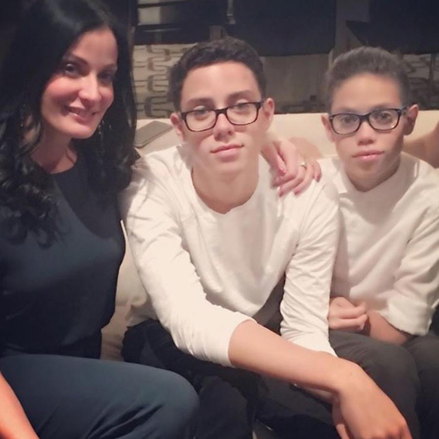 Dayanara Torres con sus hijos Cristian y Ryan