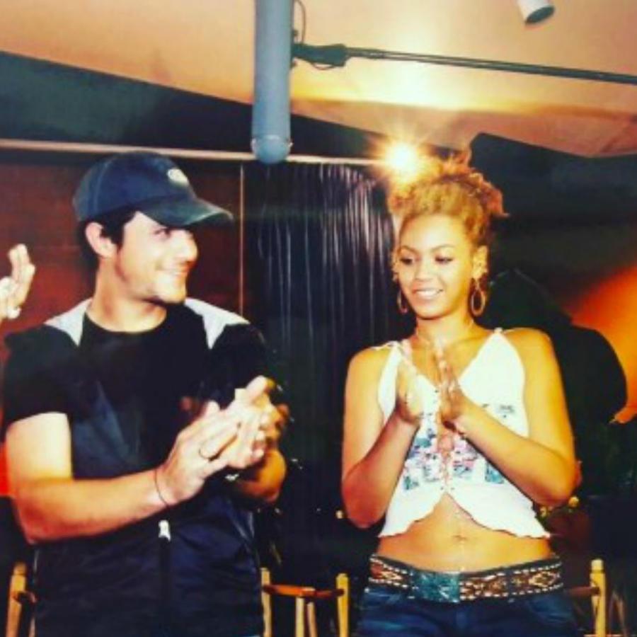 Alejandro Sanz, Beyoncé y las chicas de Destiny's Child en un ensayo