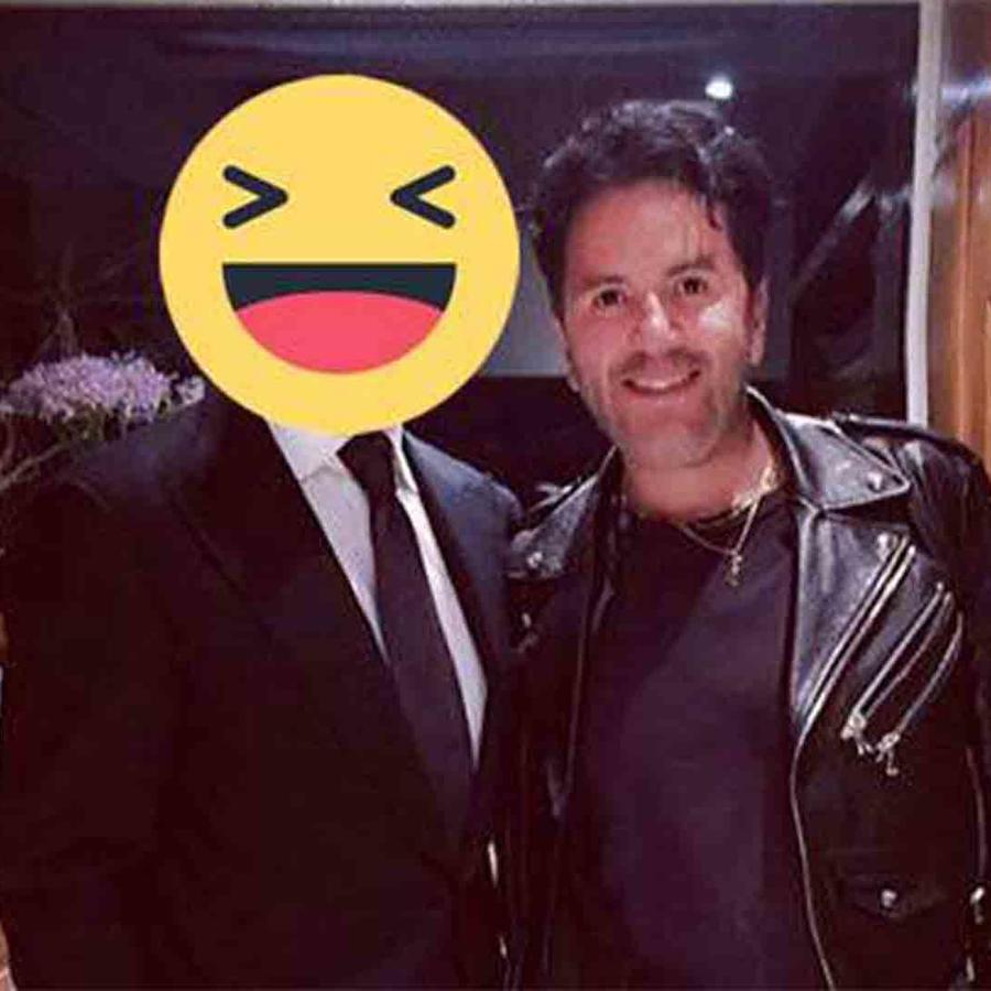 Luis Miguel junto al estilista Emilio Uribe