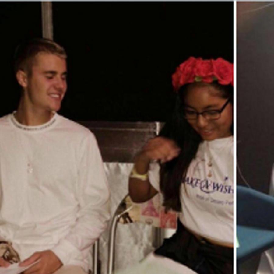 Justin Bieber con fan peruana