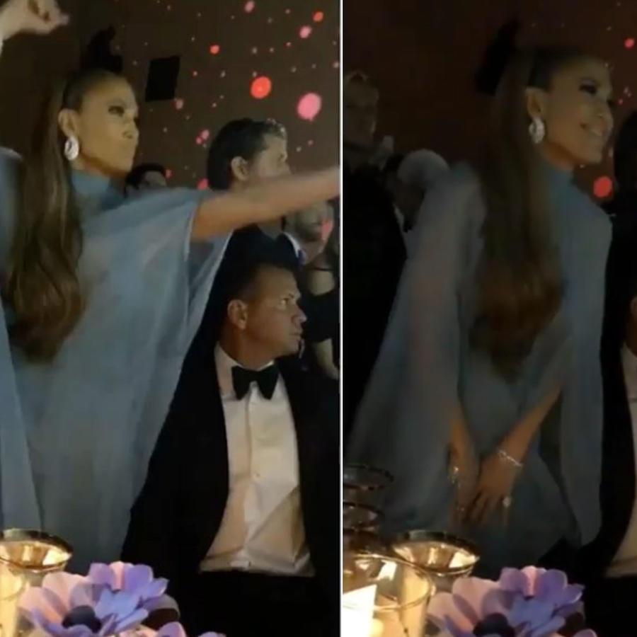 Jennifer Lopez bailando hip hop en la MET Gala