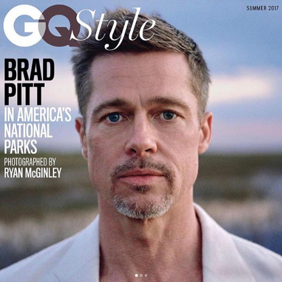 Brad Pitt en la portada de GQ Style