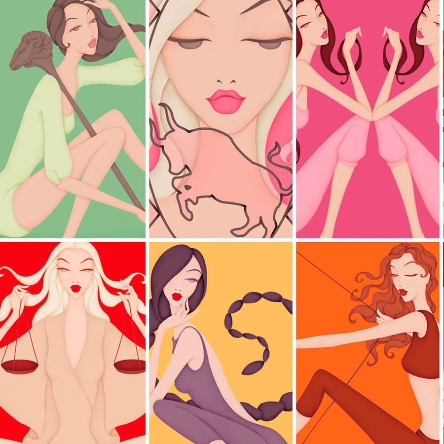 Ilustraciones signos zodiacales