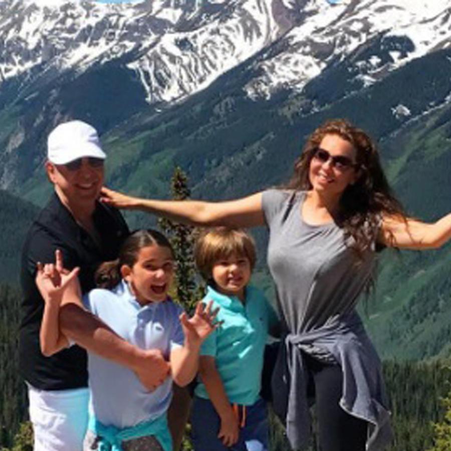 Thalía y Tommy Mottola con sus hijos Sabrina y Matthew
