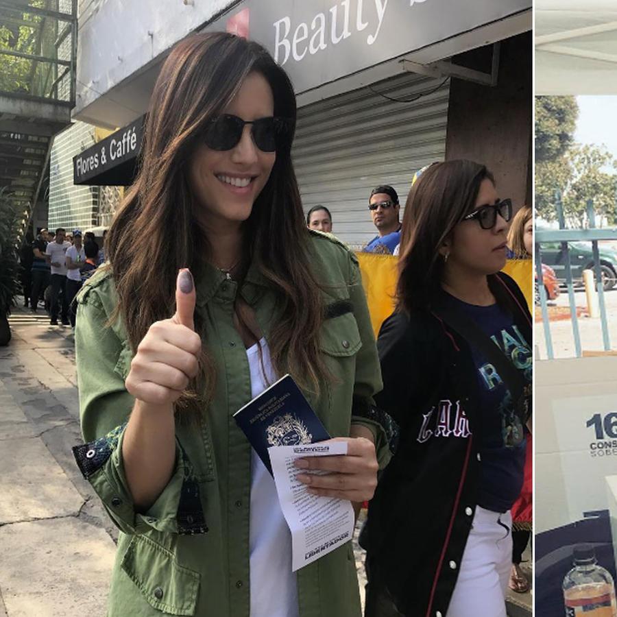 Famosos votan por venezuela