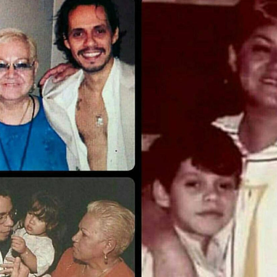 Marc Anthony con su mamá