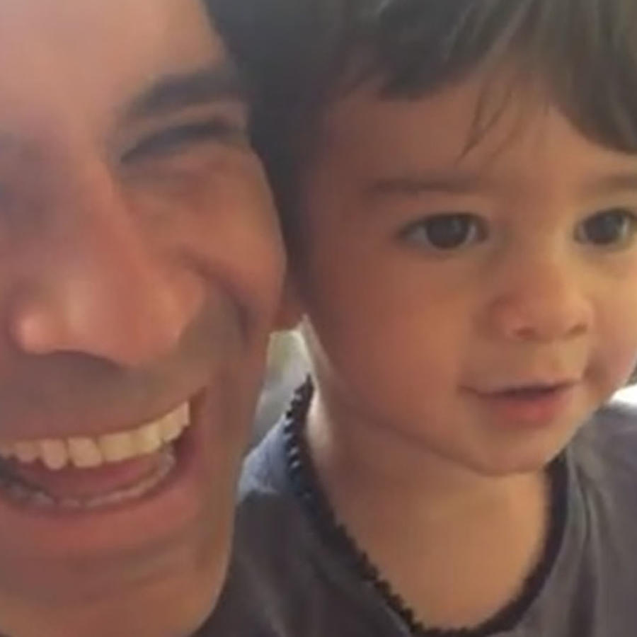 Rafa Marquez y su hijo Leonardo