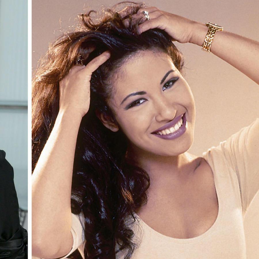 Collage Carolina Herrera y Selena Quintanilla
