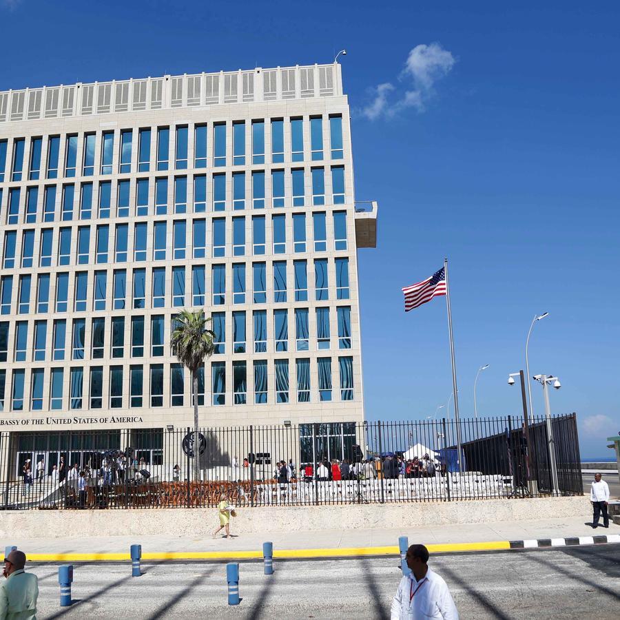 Edificio de embajada de EEUU en Cuba