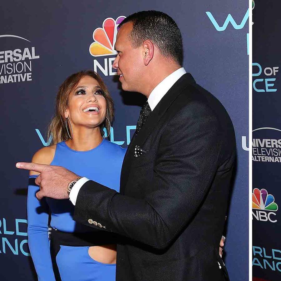 "Jennifer Lopez Dazzles in Blue Alongside A-Rod at ""World of Dance"" Event"