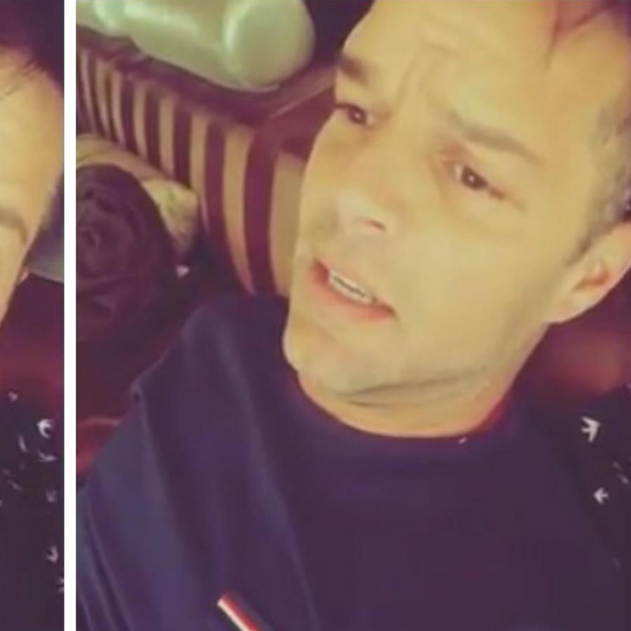 Ricky Martin preocupado