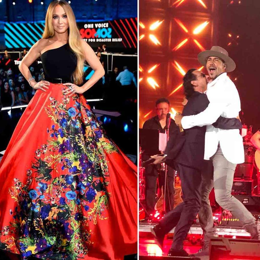 Jennifer Lopez, Marc Anthony, Ricky Martin, Romeo Santos at Somos Una Voz