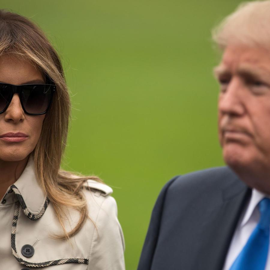 Melania Trump y Donal Trump