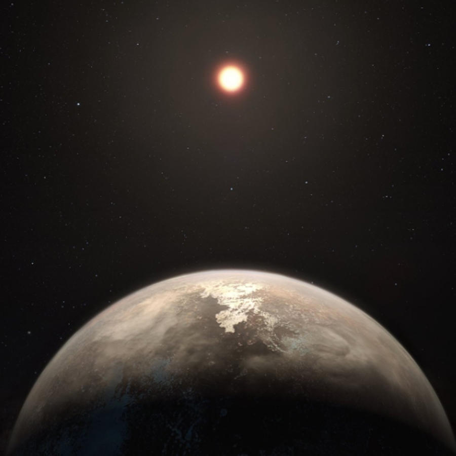 Ilustración del planeta Ross 128b