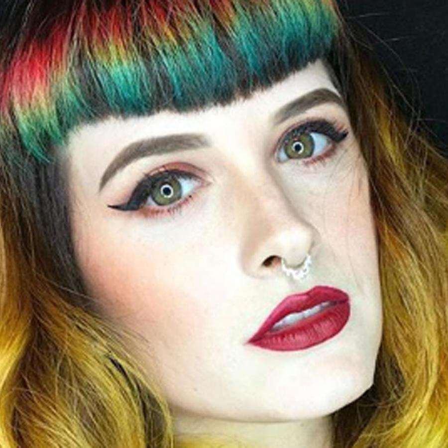 Flequillo arcoíris