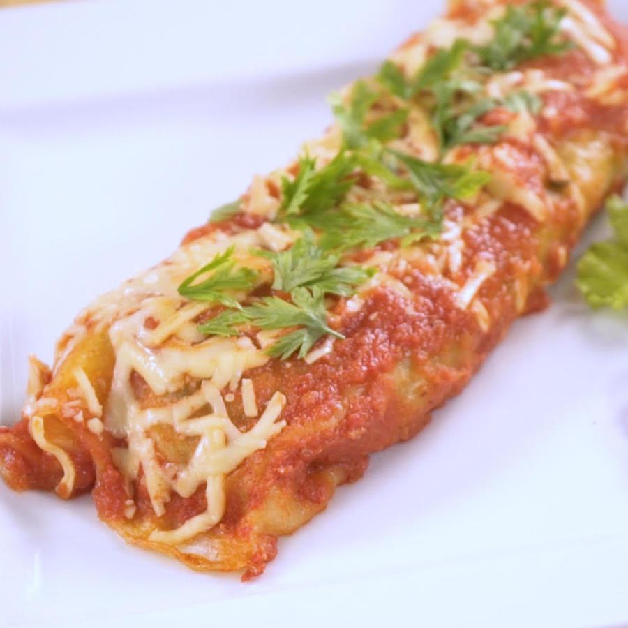 Enchilada de espinaca