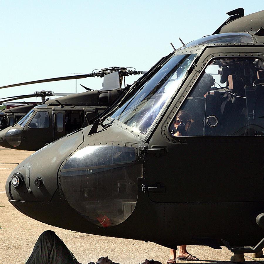 Helicópteros Black Hawk apostados en Irak en una imagen de archivo