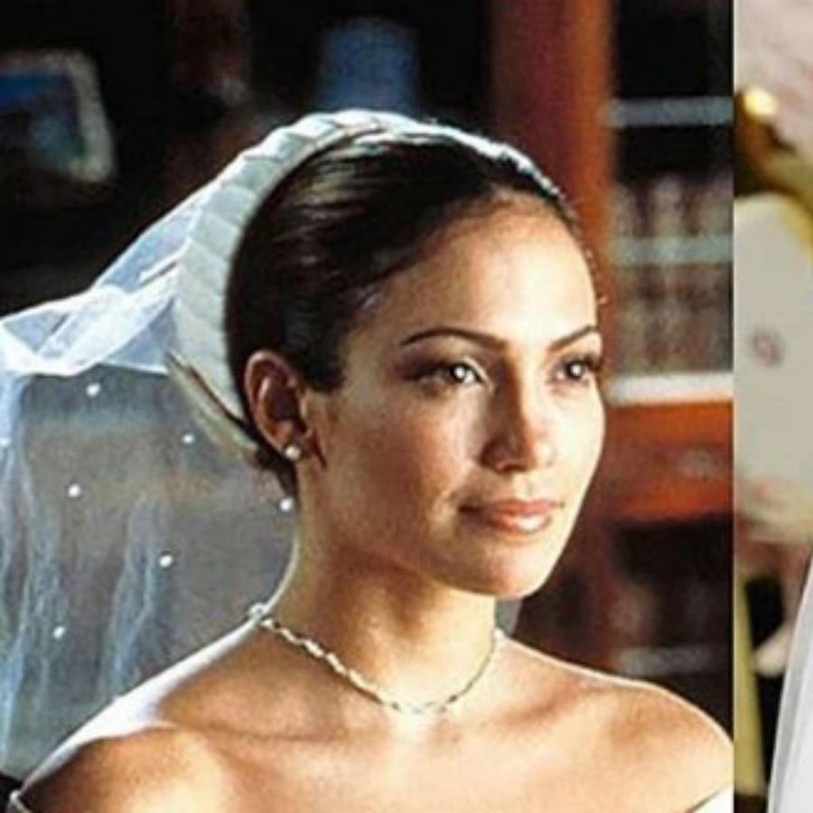 Collage Meghan Markle y Jennifer Lopez vestida de novia