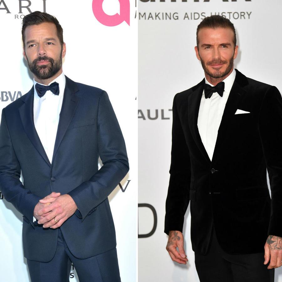 Collage Ricky Martin, David Beckham y William Levy