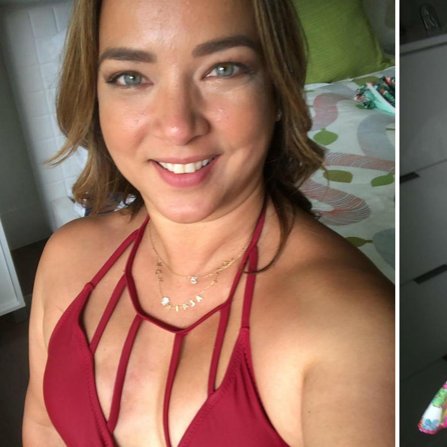 Adamari López modelando trajes de baño