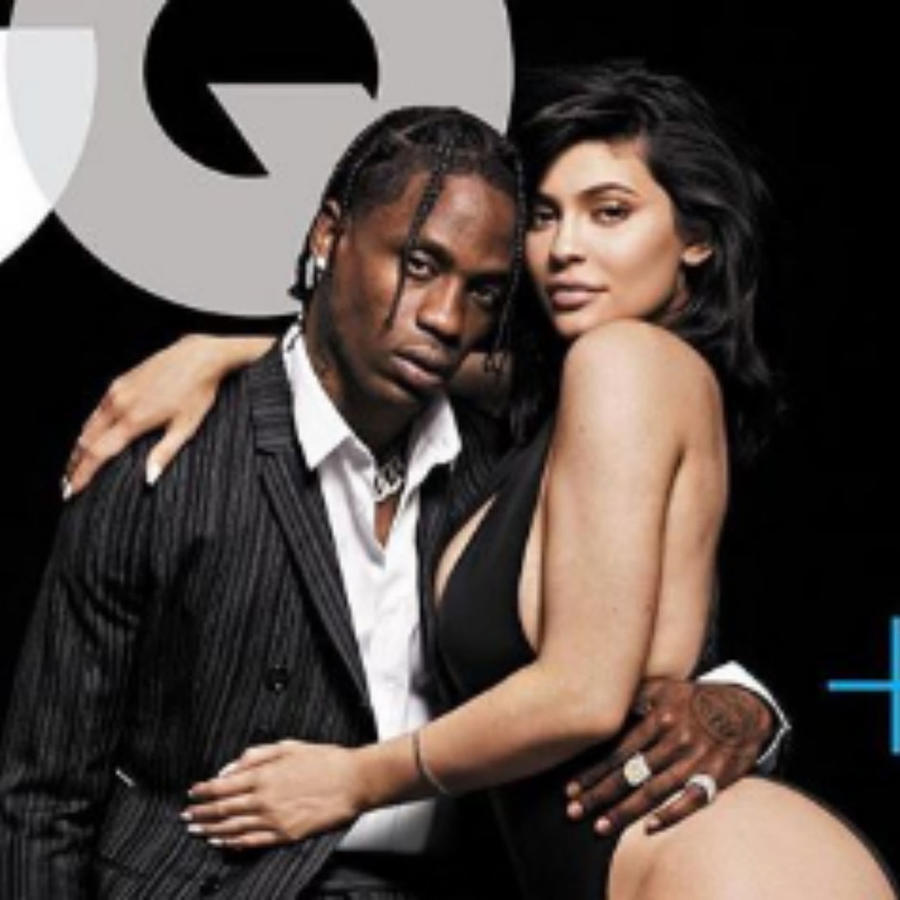 Kylie Jenner con Travis Scott en la revista GQ