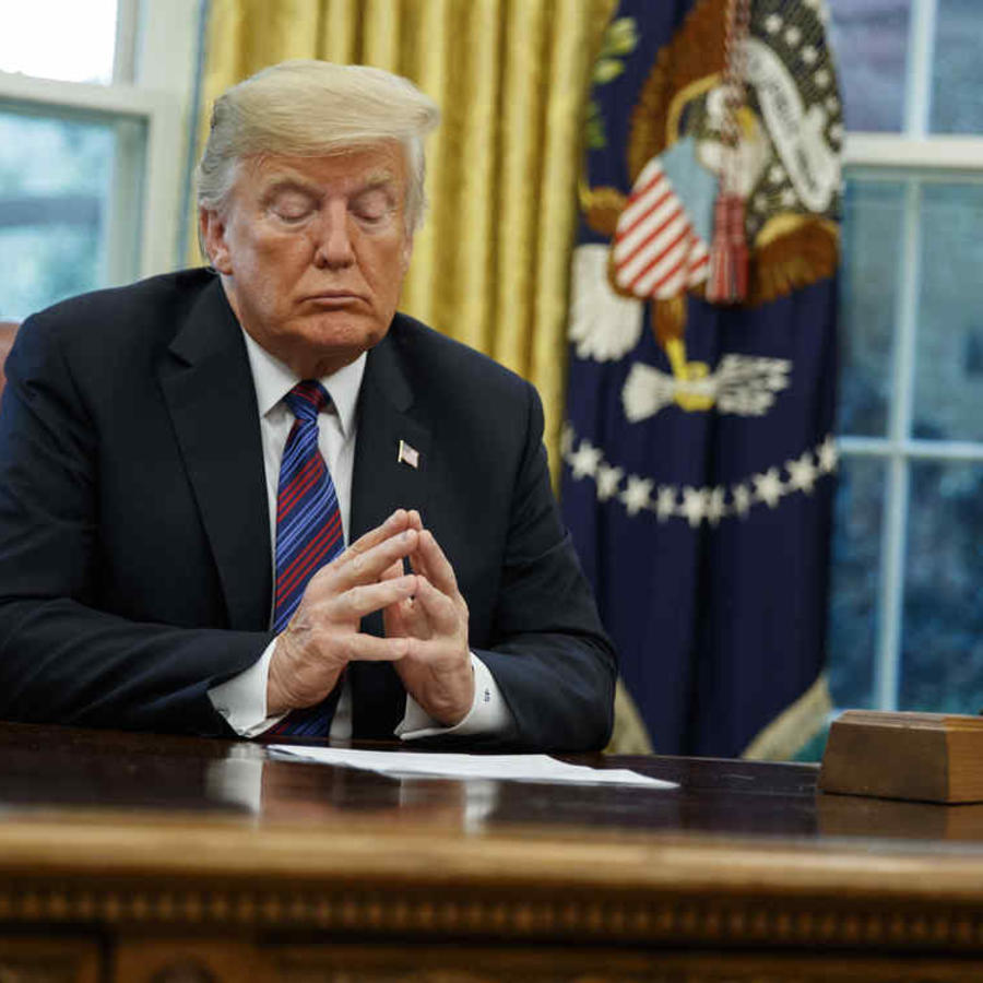 El presidente de Estados Unidos Donald Trump en la Oficina Oval, el lunes 27 de agosto de 2018, en Washington.