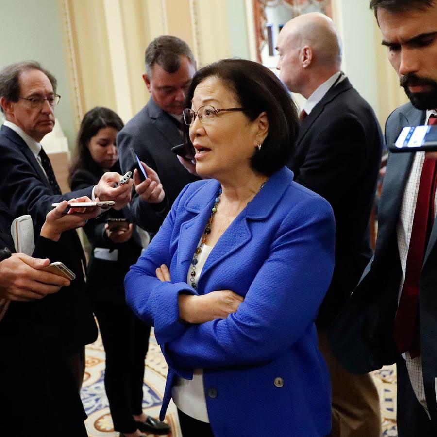 La senadora demócrata de Hawaii Mazie Hirono, en el Congreso