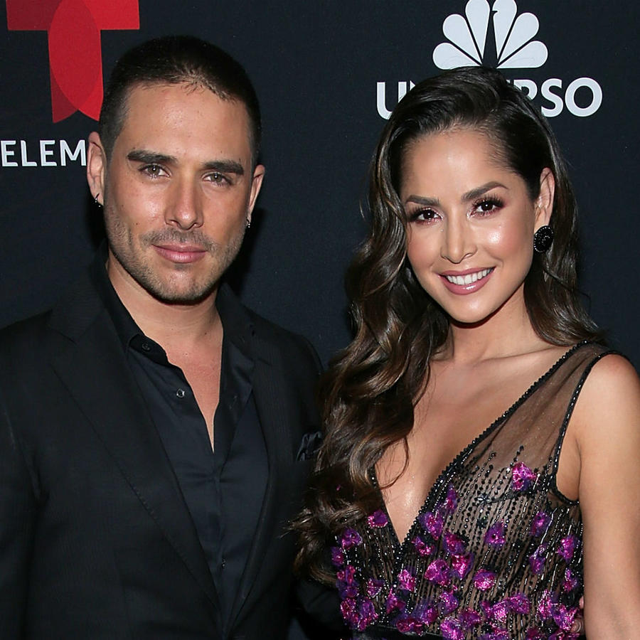 Sebastián Caicedo con Carmen Villalobos