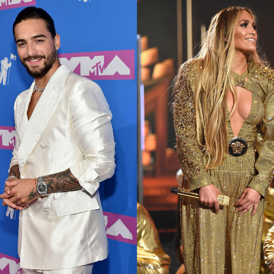 Maluma, Jennifer Lopez y Daddy Yankee collage