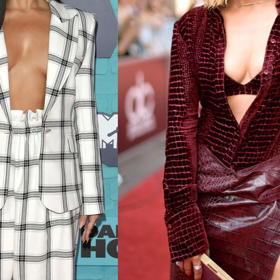 Demi Lovato y Jennifer Lopez collage