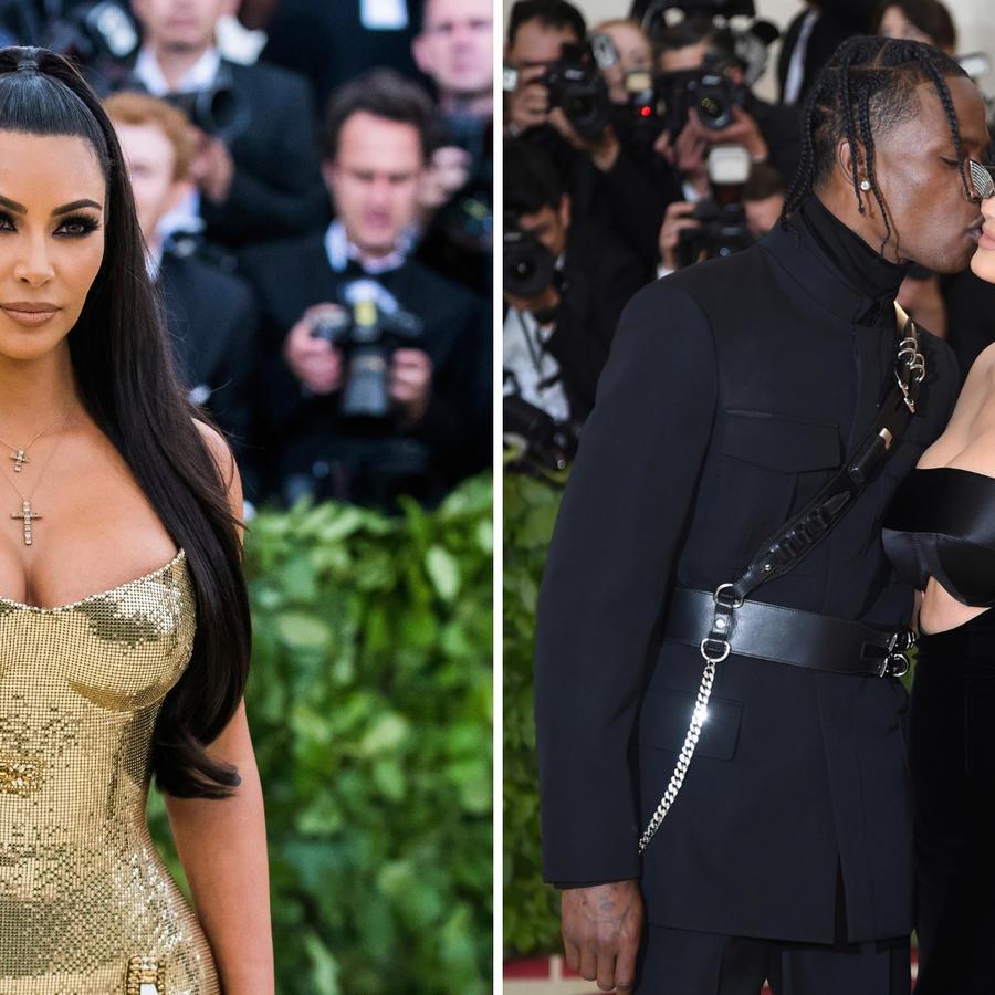 Kim Kardashian (izquierda) Tom Scott y Kylie Jenner (derecha)