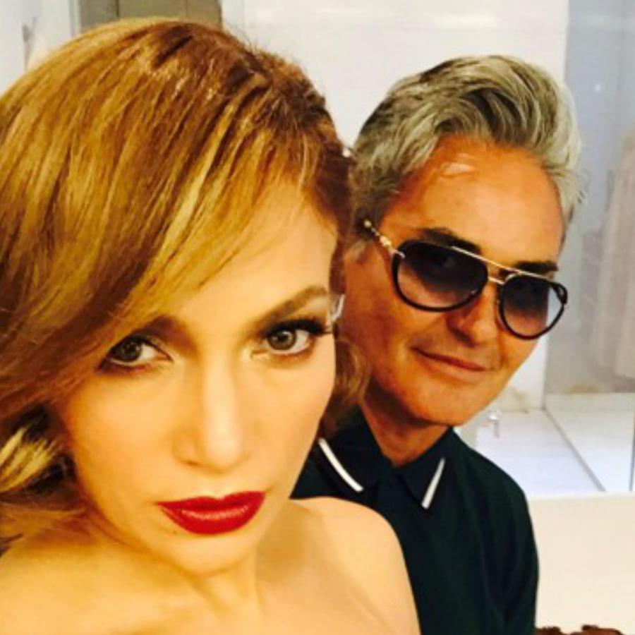 Jennifer Lopez con Oribe Canales