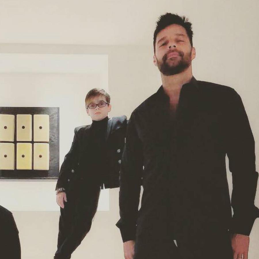 Ricky Martin y Jwan Yosef con sus gemelos